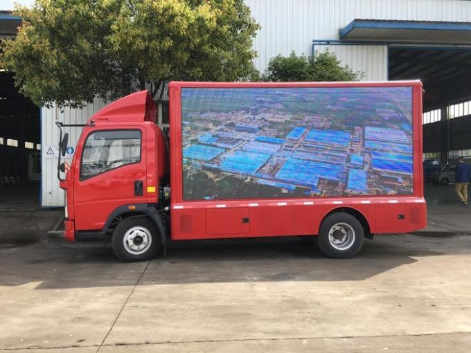 Mobile Digital LED Billboard Truck Howo 4 Tons VGA Synchronous Control