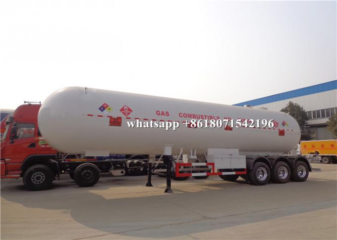 54m3 LPG Propane Delivery Truck 1.0mm Corrosion Allowance 27MT Road Tank Trailer