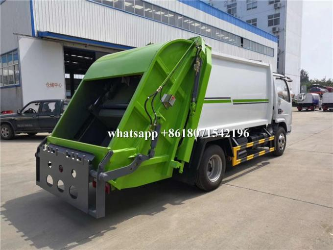 6CBM Rear Loader Garbage Compactor Truck 3308mm Wheel Base 102HP Horsepower