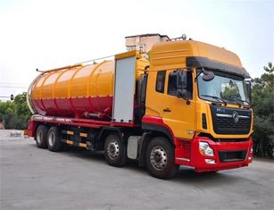 Dongfeng Jetting Sewage Vacuum Suction Truck With 420HP Deputy Diesel Engine 35m3