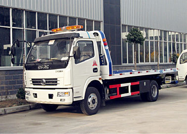 China Dongfeng 5 Tons Platform Heavy Duty Wrecker Truck 4*2 One - Towing - Two supplier