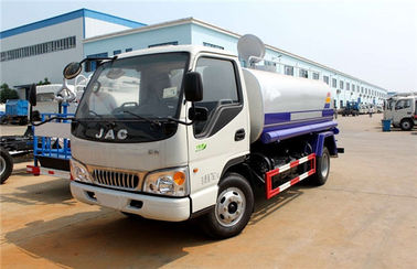 China JAC 4x2 5000 Liters Water Sprinkler Tank / Carbon Steel Water Tanker Truck supplier