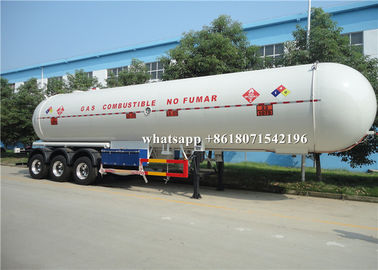 China 54m3 LPG Propane Delivery Truck 1.0mm Corrosion Allowance 27MT Road Tank Trailer supplier