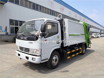 China 6CBM Rear Loader Garbage Compactor Truck 3308mm Wheel Base 102HP Horsepower supplier