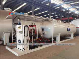 10 Tons 20000 Liters LPG Skid Station With Filling Scale