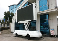 China P5 P6 LED Billboard Truck Road Show Mini Trailer With Lifting LED Screen factory