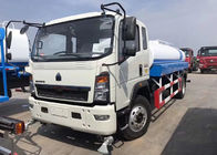 China 8CBM Water Bowser Truck , 4 X 2 HOWO Water Tank Truck For Warm Water Delivery factory