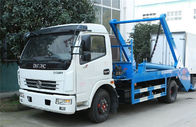 Swing Arm Garbage Waste Removal Trucks Carbon Steel Waste Transport With 5CBM Hopper