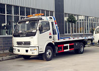 Dongfeng 5 Tons Platform Heavy Duty Wrecker Truck 4*2 One - Towing - Two
