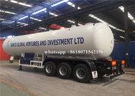 3 Axles 25 Tons LPG Gas Tanker Truck 49600L Liquefied Petroleum Gas Tank Trailer
