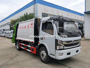 Diesel Fuel Type Garbage Compactor Truck New Condition Rear Discharge Function