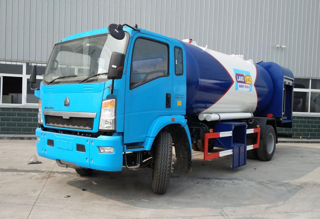 Howo Bobtail Lpg Gas Tanker Truck Tank Transport Truck 15000 Liter 6 Ton With 2 Truck Hydraulic Pump