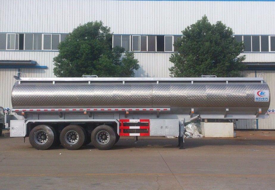 steel 42000 liters fuel oil tanker trailer with tri axle