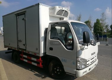 China ISUZU 2 Tons Ice Box Truck , Refrigerated Cold Room Truck For Frozen Fish Transportation factory