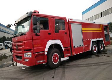 China Howo 6 X 4 10 Wheel Large Fire Truck , Fire Service Truck For Factory factory