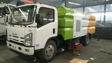 6mt Road Cleaning Vaccum Isuzu Sweeper Truck High Efficiency Sweeping
