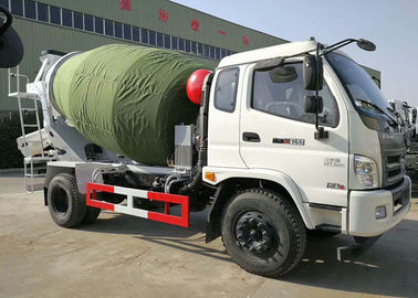 China 4CBM Ready Mix Concrete Mixer Trucks 4000 Liters , 4X2 Mini FORLAND Self Mixing Concrete Truck factory