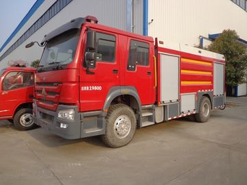 China Emergency Rescue Fire Truck , HOWO 8 Tons Foam Fire Truck Good Performance distributor