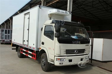 China Insulation Refrigerated Box Truck 4t Dongfeng 80mm Interbed Thickness factory