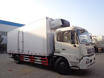 China Dongfeng 10 Ton Refrigerated Truck , -15 ℃ Refrigerated Delivery Truck With Rear Hydraulic Loading Plate factory