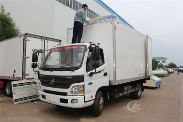 China Foton Frozen Delivery Truck Refrigerated Box Truck 3 Ton 4.1 Meters Customized Color factory