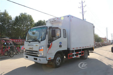 China 3 Tons Refrigerated Box Truck , Ice Cream Milk Transport Cooling Roomfridge Freezer Truck distributor