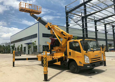 China Automatic 12m Cherry Picker Aerial Lift Truck Electronical Controlled Lifting factory
