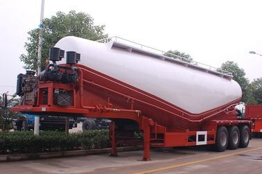 China 2 Axle 35cbm Cement Tanks Trucks And Trailers For Dry Powder Flour Transportation distributor