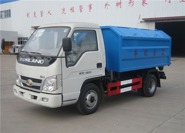China Forland 3m3 Rubbish Removal Truck , Hydraulic Arm Waste Garbage Truck factory