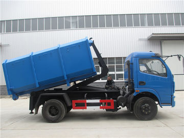 China Dongfeng 5cbm / 4ton Waste Removal Trucks With Hydraulic Pull Arm Garbage Container factory