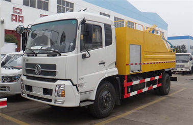China Sewage Vacuum Suction Truck With 4000 Liters High Pressure Cleaning Water Tank factory