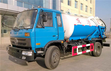 China 10000liters Sewage Cleaning Tank Truck for Urban Septic Sewage Suction Vehicle Fecal Sucking Truck distributor