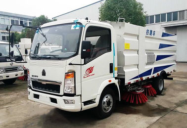 China Howo 4*2 Road Sweeper Truck , Road Cleaning Truck With 1.5cbm Water 4cbm Dust factory