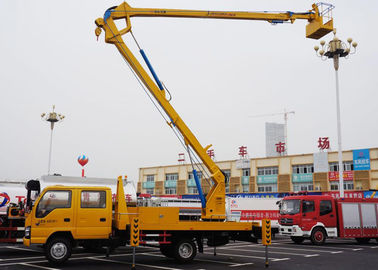 China Telescopic Type Aerial Lift Platform Truck / Truck Mounted Boom Lift Vehicle factory