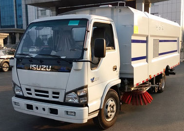 China ISUZU 115HP LHD Customized Street Sweeper Vacuum Truck With High Pressure Water Spray factory