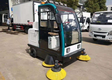 China New Mini Electric Mechanical Sweeper Truck Street Cleaning Aluminum Alloy Frame factory