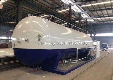 China 40000L Mobile LPG Bulk Storage Tank Custom Logo And Color With 2 Filling Scales distributor