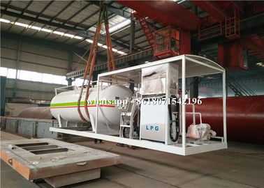 China Mini Skid Cooking Gas LPG Gas Storage Tank 5mt 5 Tons With Filling Dispenser Machine distributor