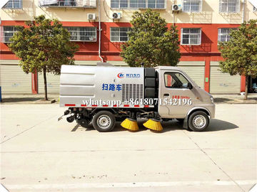 China 2CBM Mini Street Sweeper Truck , Street Washing Truck Stainless Steel 304 Material distributor
