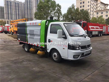 China Dongfeng Mini Road Sweeper Truck 4 Units Brushes Street Vacuum Cleaner Truck distributor