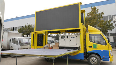 China P4 P5 P6 Digital Mobile Advertising Truck 5000 - 7000CD/M2 Brightness With Stage distributor